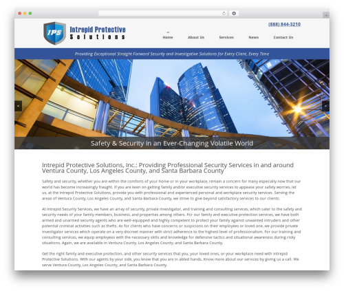 Theme WordPress website template - intrepidprotectivesolutions.com