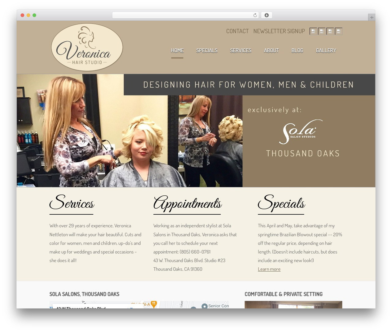 WordPress theme Theme - veronicahairstudio.com