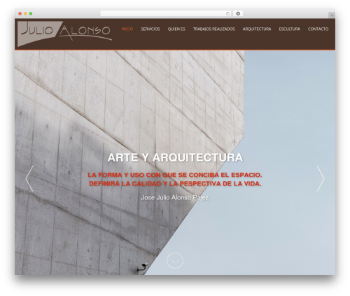 WordPress website template AccessPress Parallax - arquitectojulioalonso.com