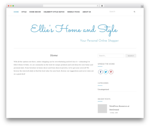 Activello WordPress theme - ellieshomeandstyle.com