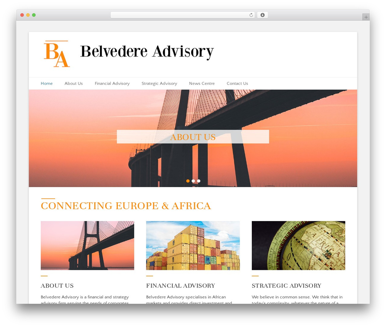 Catch Base Pro WordPress template for business - belvedere-advisory.com