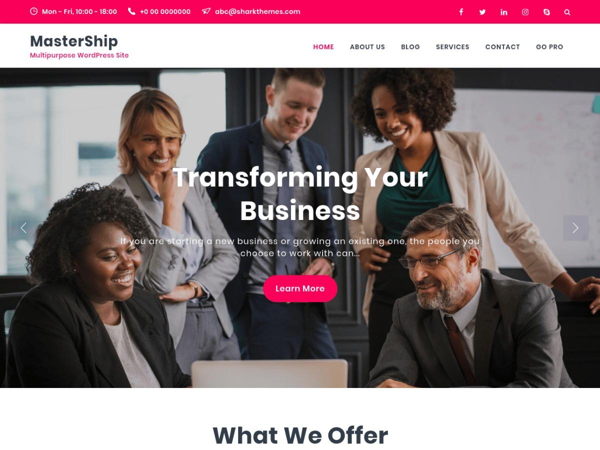 Mastership company WordPress theme