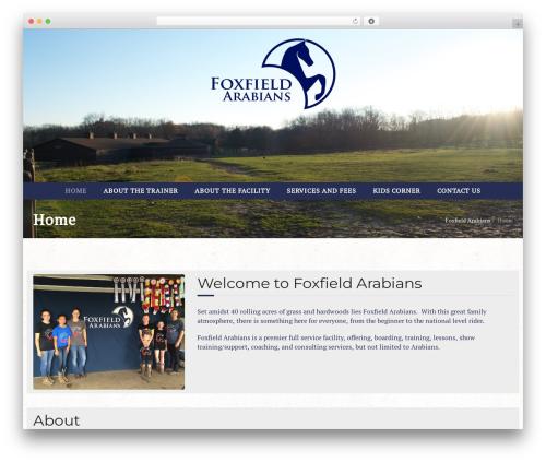 WordPress theme Equestrian - foxfieldarabians.com