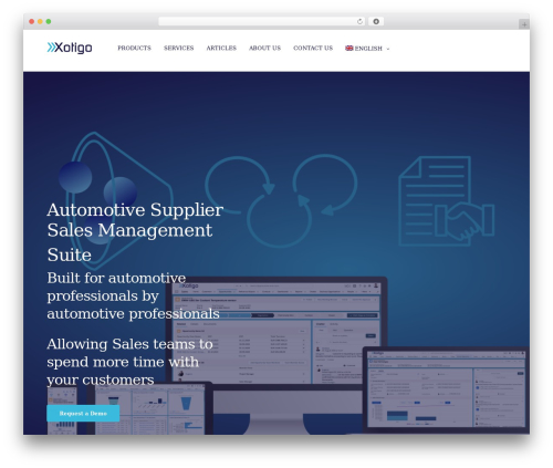 WordPress theme Revolution - xotigo.com