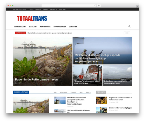 Best WordPress theme Newspaper - totaaltrans.nl