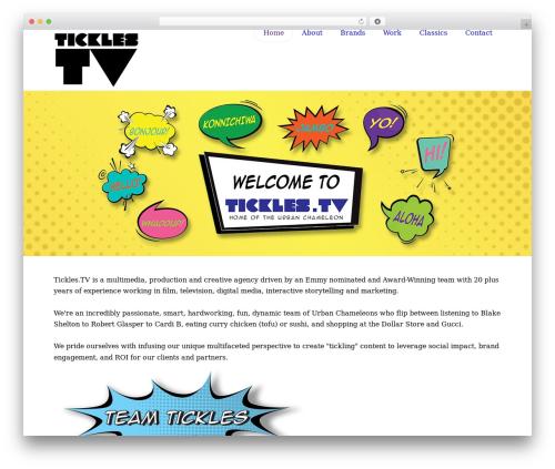 Best WordPress theme X - tickles.tv