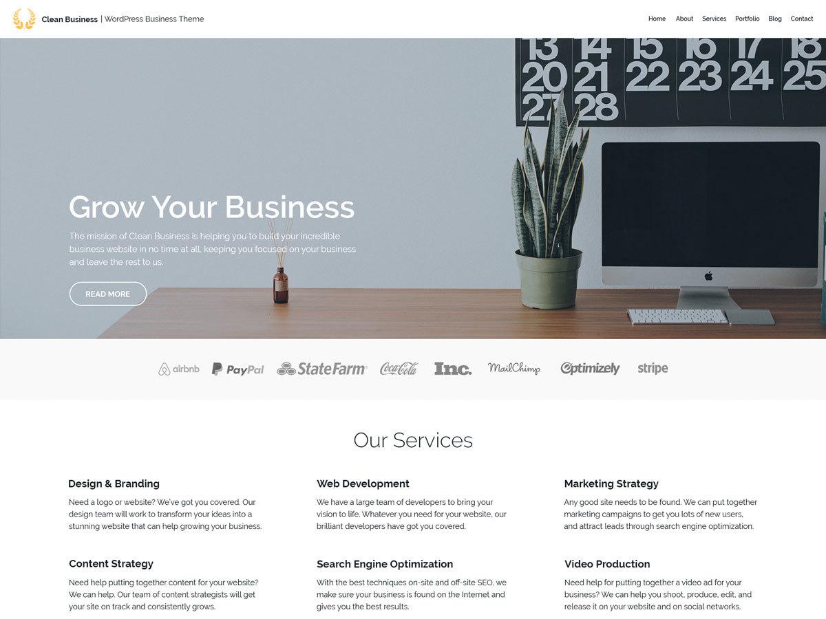 Bogaty Lite company WordPress theme