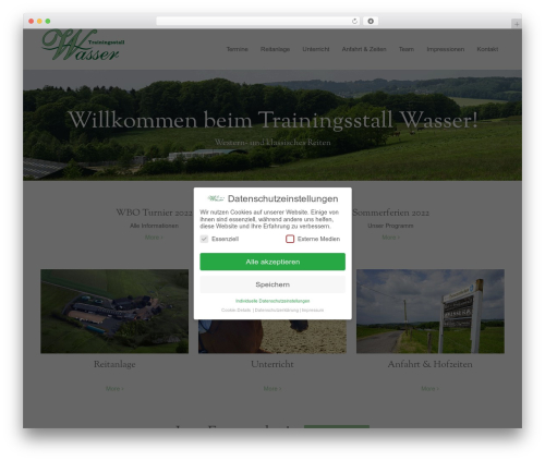 DMS theme WordPress - trainingsstall-wasser.de