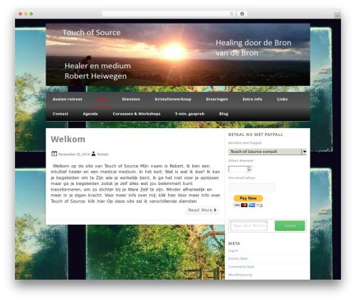 Isquar best WordPress template - touchofsource.nl