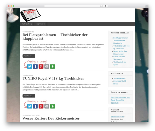 Free WordPress WP-PostRatings plugin - tischkicker-news.de