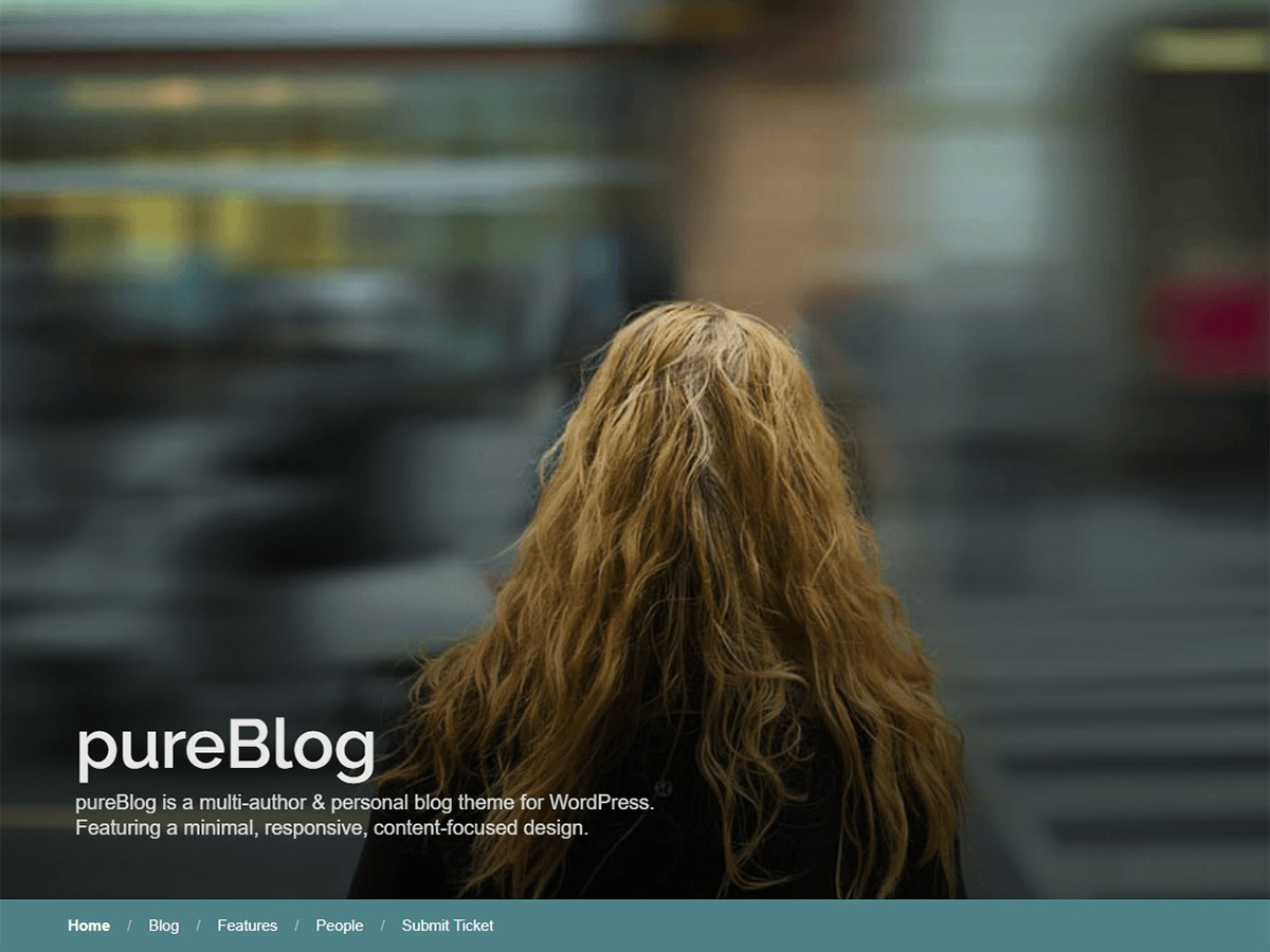 PureBlog WordPress blog template