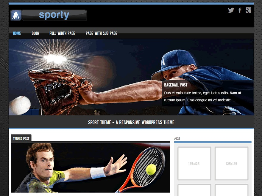 Sporty Child 01 WordPress theme