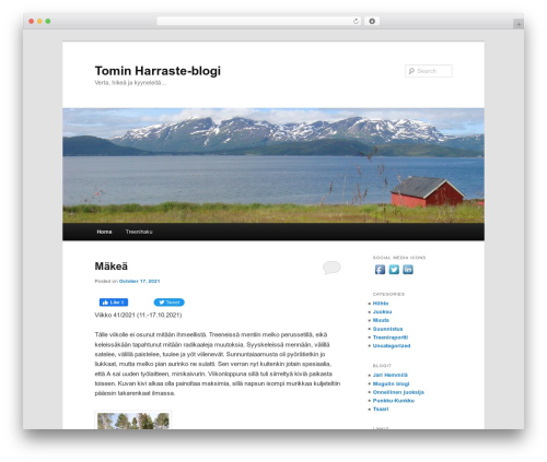 Twenty Eleven WordPress theme - tomirinne.net