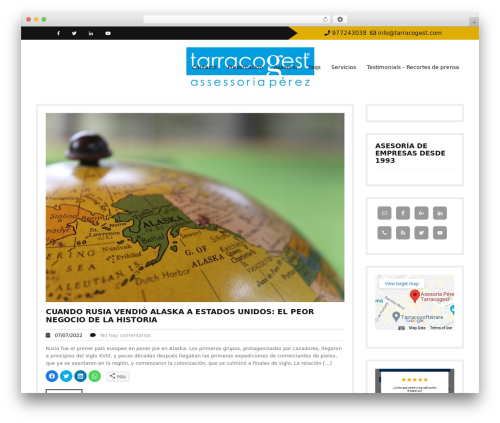 Twenty Minutes WordPress theme - tarracogest.com