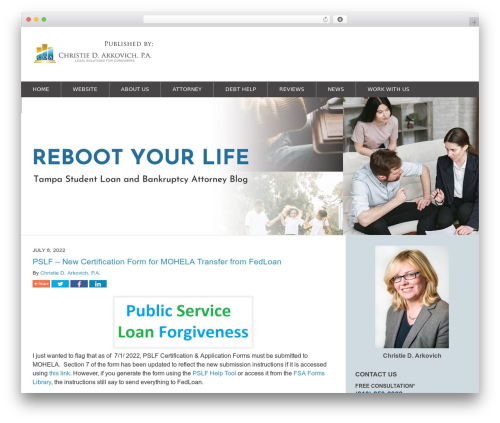 Willow-Responsive WordPress blog theme - tampabankruptcylawyerblog.com