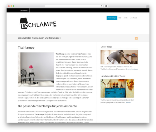 WordPress theme WP-Brilliance - tischlampe.com