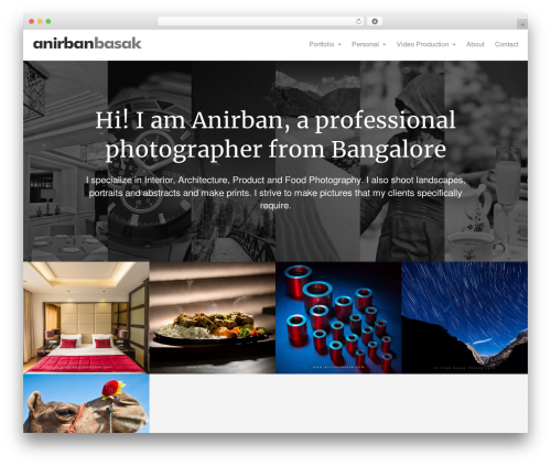 Oren template WordPress free - anirbanbasak.com