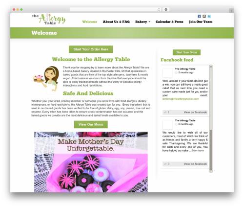 Striking MultiFlex & Ecommerce Responsive WordPress Theme WordPress store theme - theallergytable.com