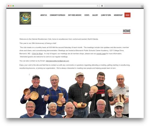 Tesla best WordPress template - dakotawoodturners.com