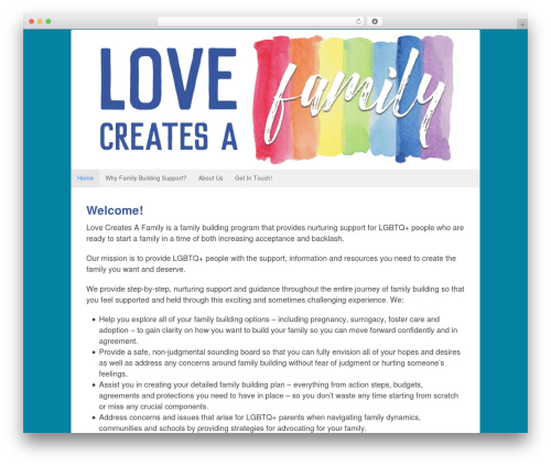 WordPress theme Canvas - lovecreatesafamily.com