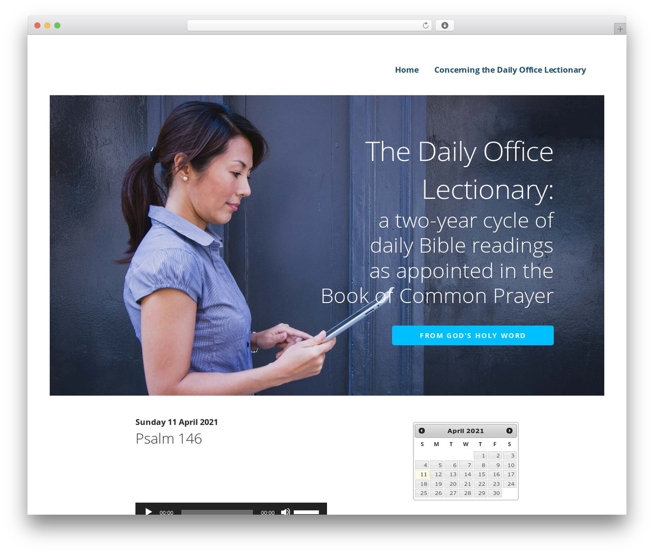 Ascension WordPress theme - dailyofficelectionary.com