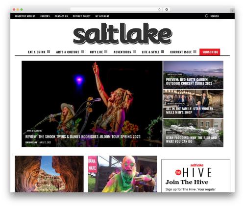 Newspaper WordPress news theme - saltlakemagazine.com