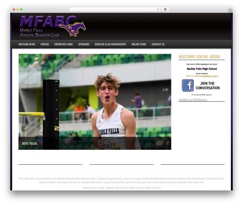 Sports Team Theme WordPress template - mfmustangs.com