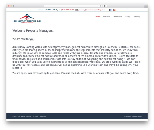 Businessweb Plus WordPress template free - jimmurrayroofing.com