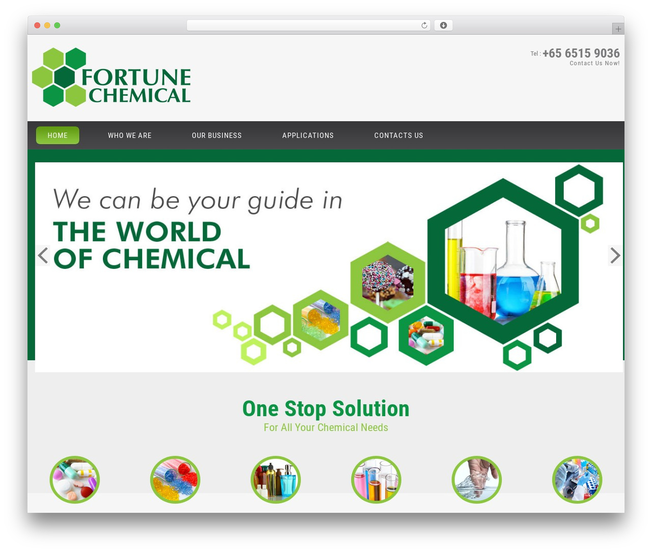 cherry WP template - fortune-chemical.com