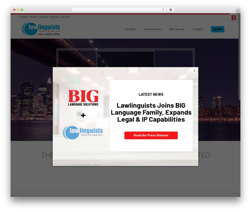 Satellite7 premium WordPress theme - lawlinguists.com