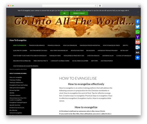 Sequel top WordPress theme - howtoevangelise.com