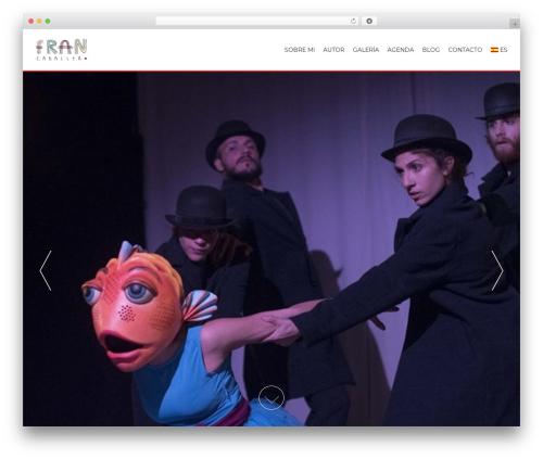 AccessPress Parallax best free WordPress theme - fran-caballero.com