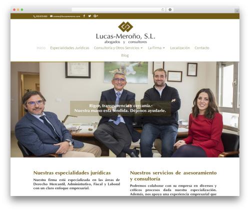 Divi theme WordPress - lucasmerono.com