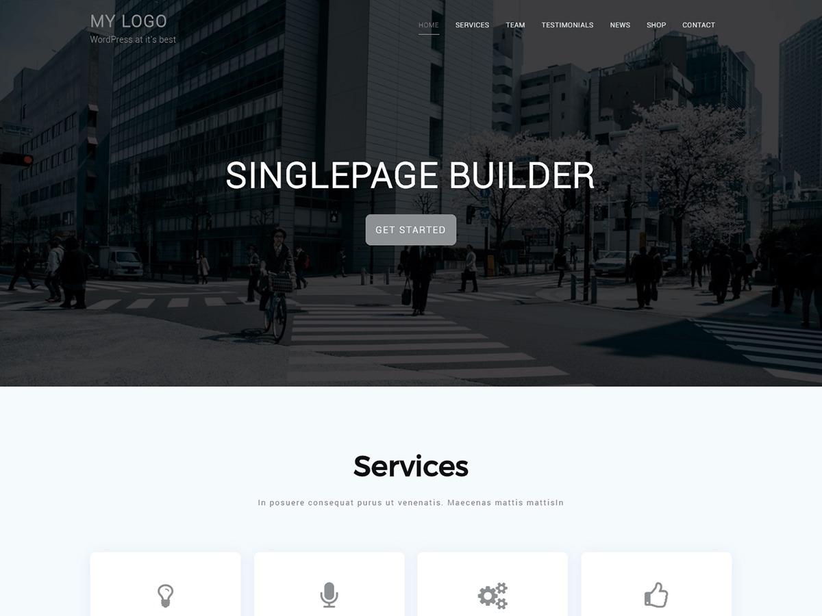 Singlepage Builder WordPress ecommerce theme