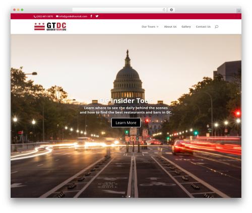 Theme WordPress Divi - guidedtoursdc.com