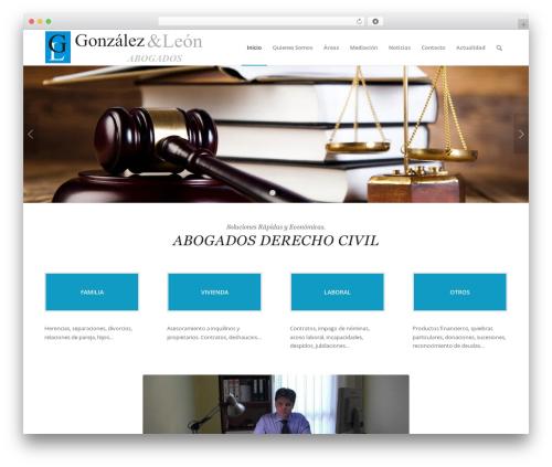 Theme WordPress Enfold - gonzalezleonabogados.com