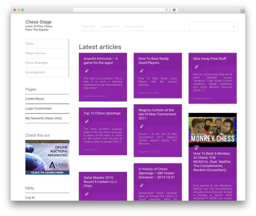 WordPress theme MaterialX - chessstage.com