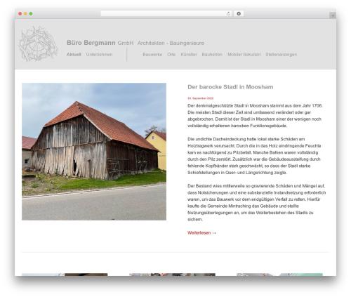 bergmann WordPress theme - buero-bergmann.com