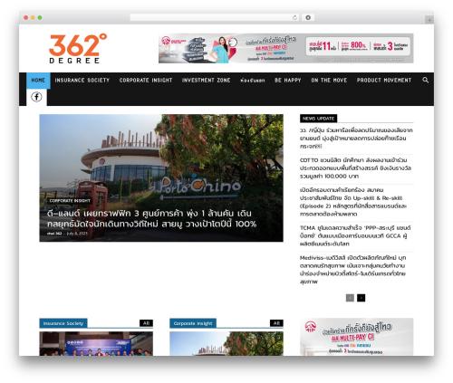 Newspaper WordPress theme design - 362degree.com