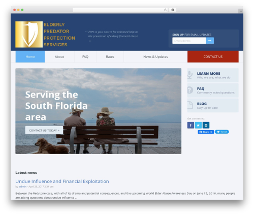 Candidate WordPress theme - eppsprotected.com