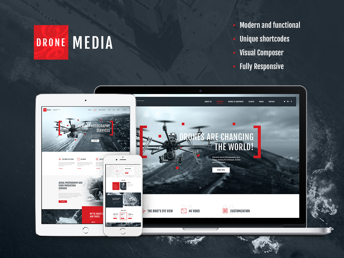 Drone Media Child WP template