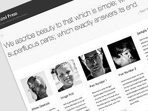Miniml Press (New) WordPress magazine theme