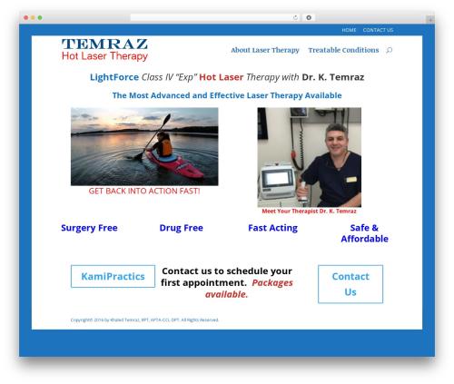 WordPress theme Divi - temrazhotlasertherapy.com