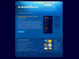 WordPress theme Ocean Theme