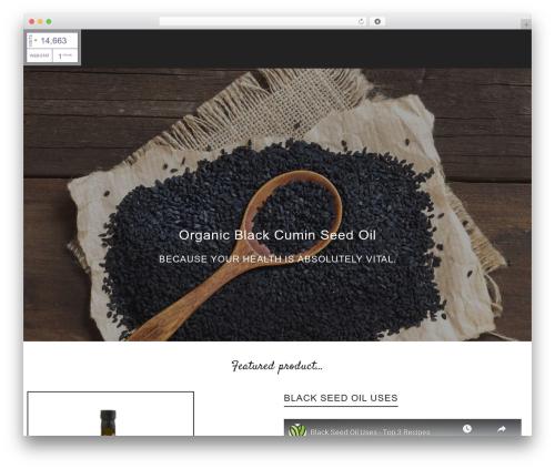 Atelier WordPress website template - vitalutehealth.com