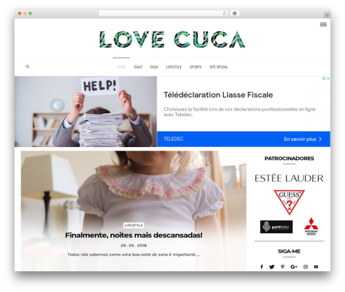 Dashblog WordPress blog theme - lovecuca.com
