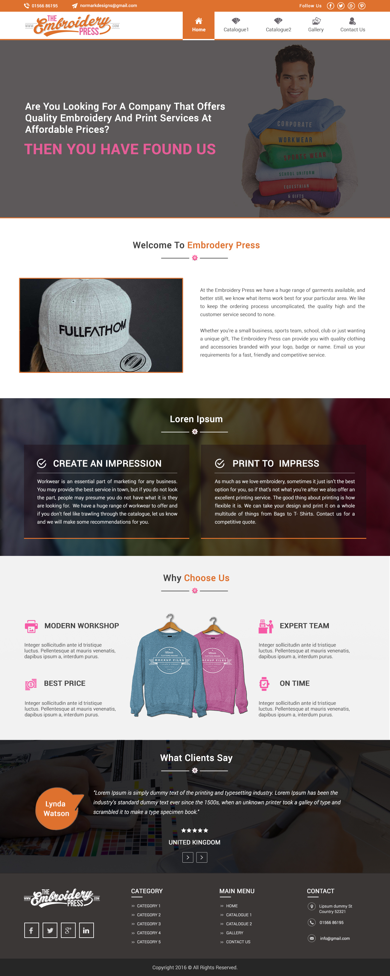 Embroidery WP template