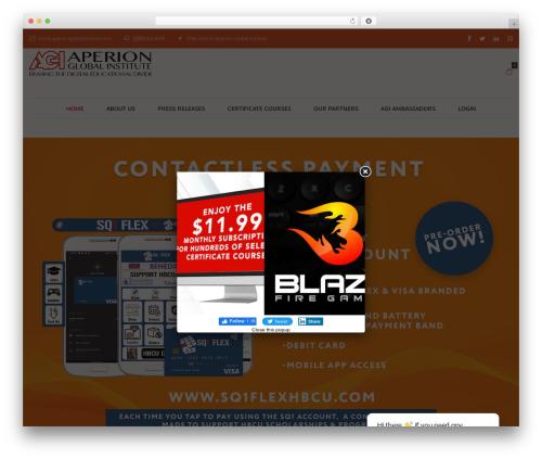 Oasis top WordPress theme - aperionglobalinstitute.com