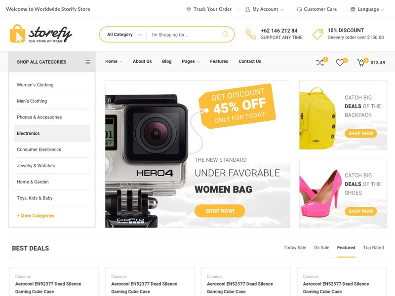 Storefy Child Theme WordPress shop theme