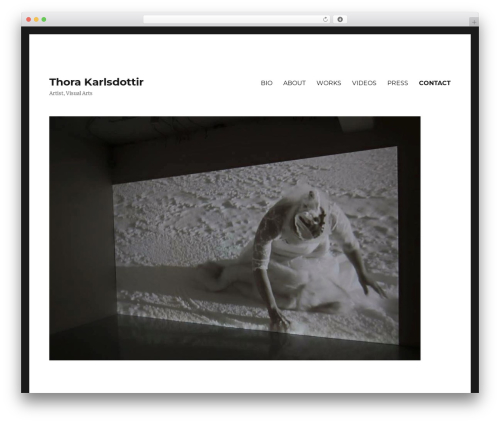 Twenty Sixteen free WordPress theme - thorakarlsdottir.com